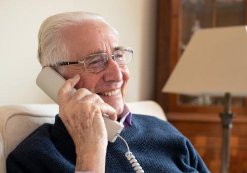 SVP member on phone