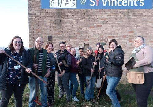Volunteers helping bring St Vincent's Community Garden to life